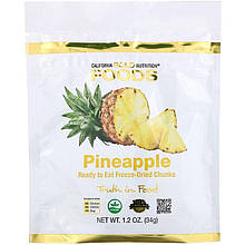 "Ананас California GOLD Nutrition ""Freeze Dried Pineapple"" сушеные кусочки (34 г)"
