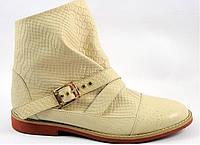 Ботинки демисезонные , натуральная кожа  под питона, 40