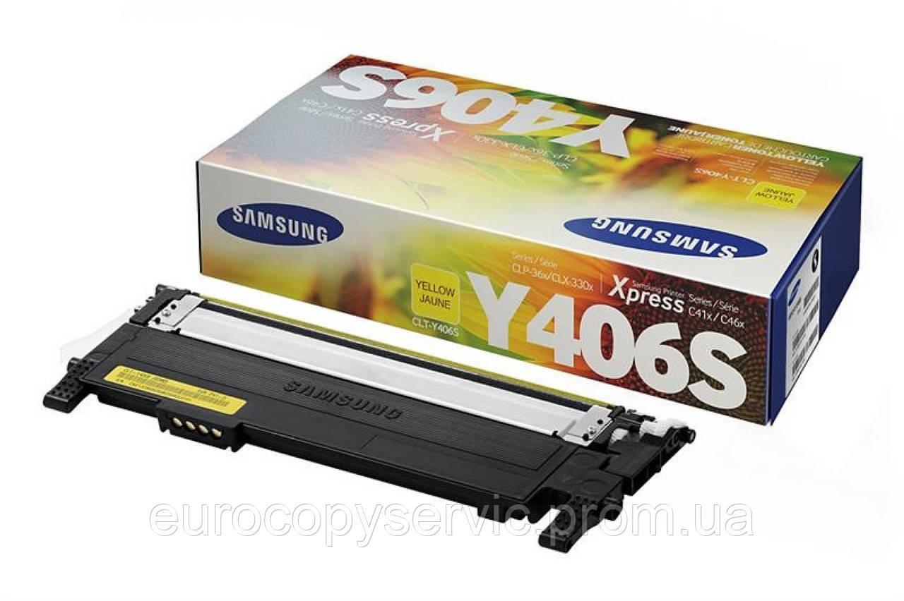 Тонер-картридж Samsung CLP-365,SL-C410W/C460W, CLX-3305/3305FN ресурс 1 000 стор. Yellow (SU464A)