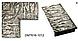 Зеркало настенное в раме Factura Steel texture 60х174 см стальное, фото 2