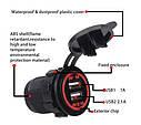 Автомобильное зарядное 2хUSB (12 V - 24 V) с подсветкой / врезная розетка / адаптер питания USB, фото 9