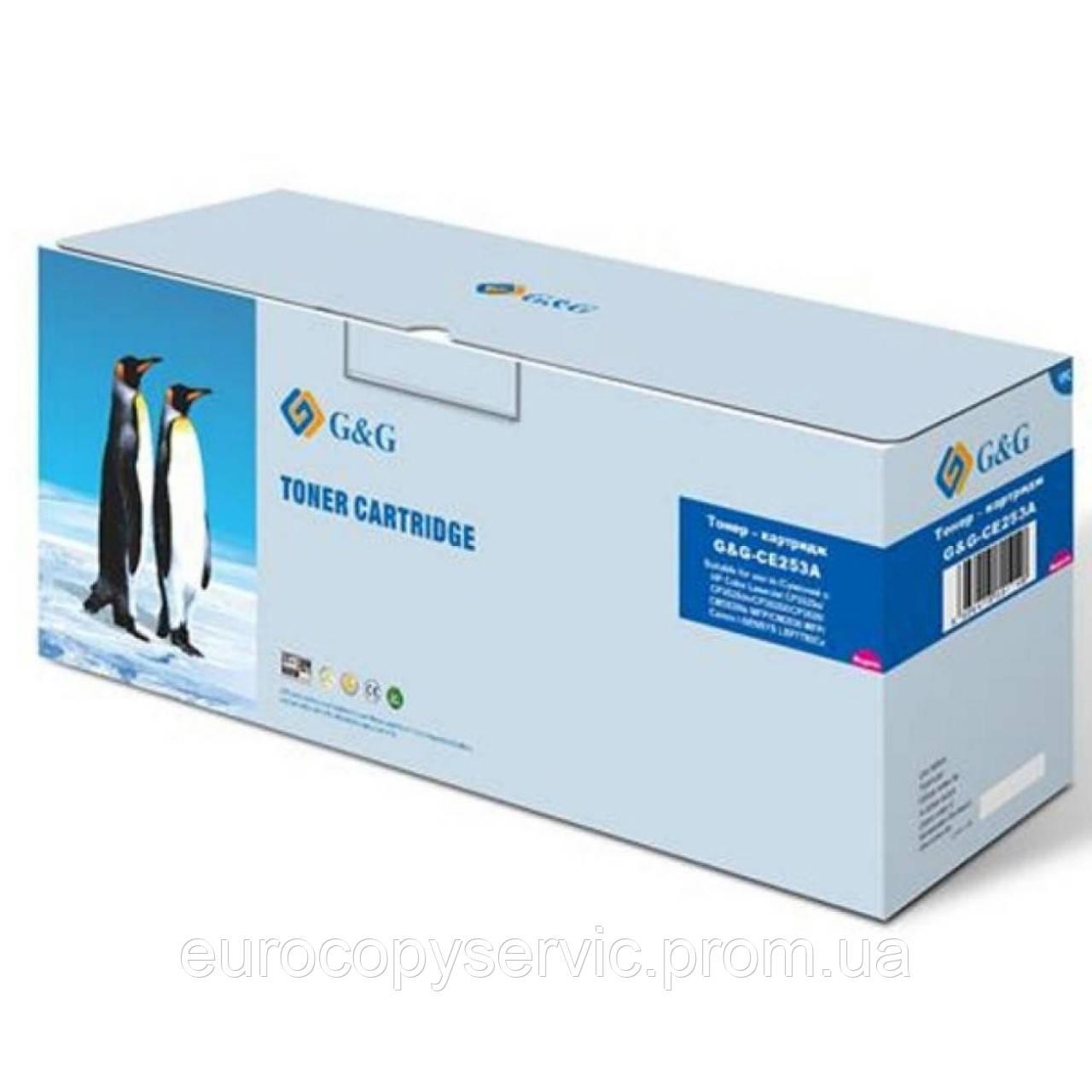 Картридж G&G для HP Color LaserJet CP3525n/CP3520 CM3530fs/Canon LBP7780Cx-732 Yellow