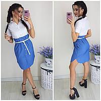 Платье - рубашка женское КБЕ158, фото 1