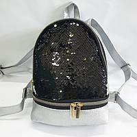 Рюкзак з паєтками, Рюкзак жіночий оптом, рюкзак зі шкірозамінника оптом, фото 1