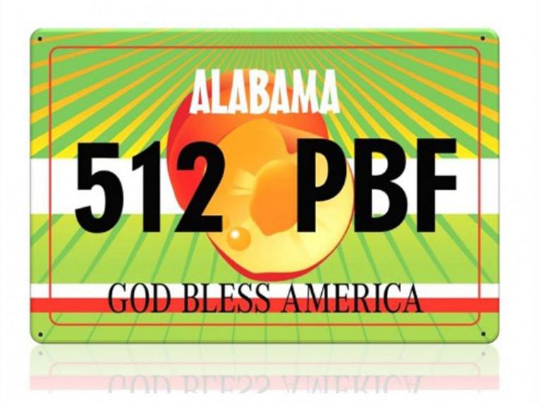 Декоративный номерной знак Alabama (Изготовим за 1 час)