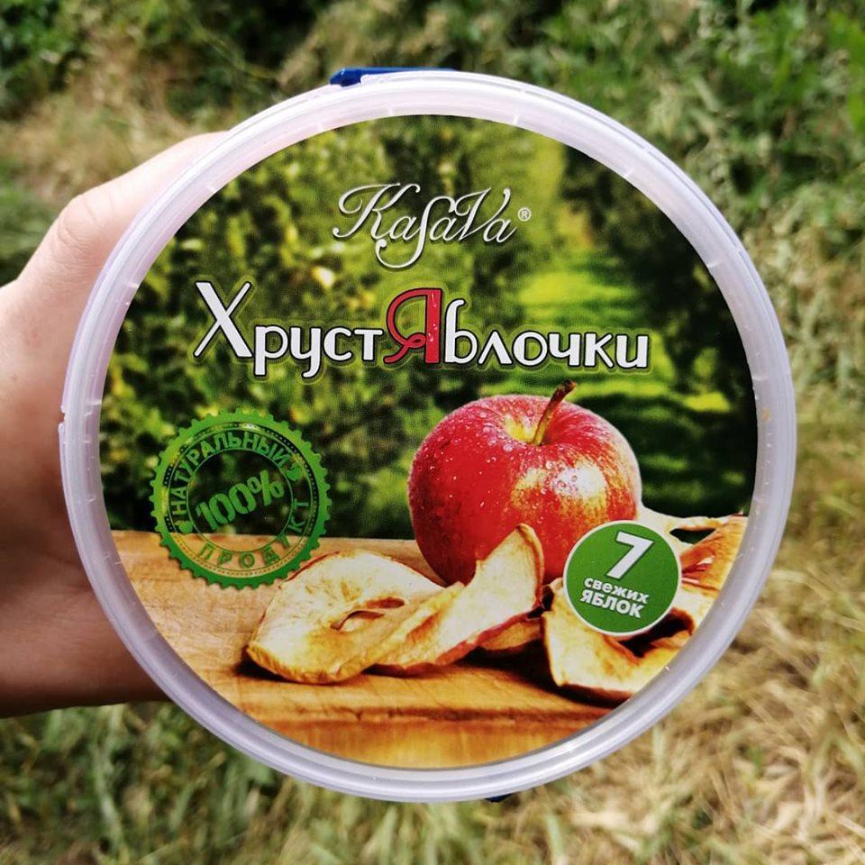 Яблочные чипсы без сахара