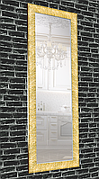 Зеркало настенное в раме Factura Textured gold 60х174 см золотое, фото 1
