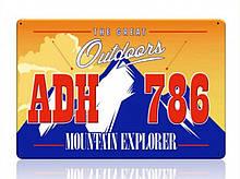 Декоративний номерний знак Explorer (Виготовимо за 1 годину)