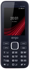 Мобильный телефон ERGO F243 Swift DS Red Гарантия 12 месяцев