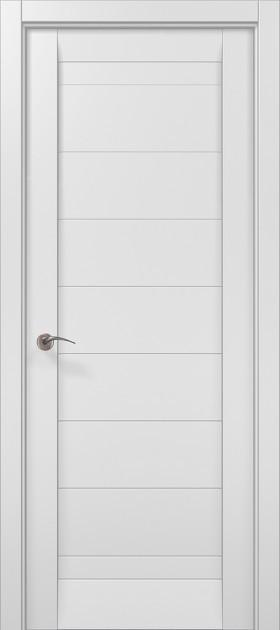 Дверное полотно 2000х610х40 Папа Карло Millenium ML-04 Белый матовий