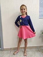 Платье детское Болеро 56-68р-р двухнитка+ангора кнопка вышивка
