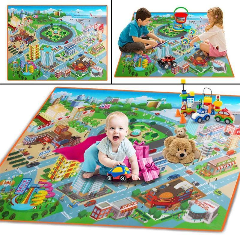 Детский игровой коврик Город