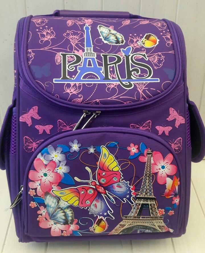 Школьный каркасный рюкзак Paris для девочки 1-4 класс 33*25*15 см