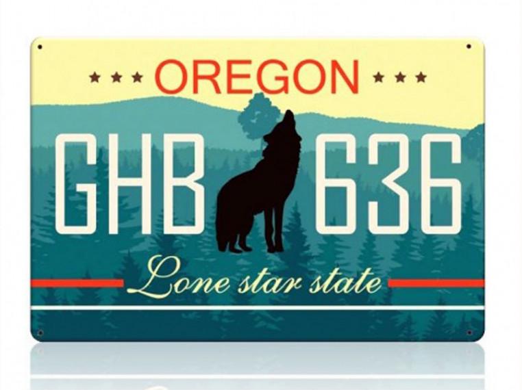 Декоративный номерной знак Oregon (Изготовим за 1 час)