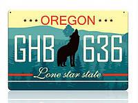 Декоративный номерной знак Oregon (Изготовим за 1 час), фото 1