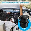 Автомобильное зарядное 2хUSB (12 V - 24 V) с ВОЛЬТМЕТРОМ / врезная розетка / адаптер питания USB плюс проводка, фото 5