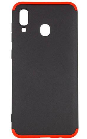 Чохол-360° LikGus для Samsung Galaxy A20/ A30 Чорний/ Червоний (968099), фото 2