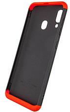 Чохол-360° LikGus для Samsung Galaxy A20/ A30 Чорний/ Червоний (968099), фото 3