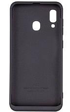 Чохол-360° LikGus для Samsung Galaxy A20/ A30 Чорний (968099), фото 2