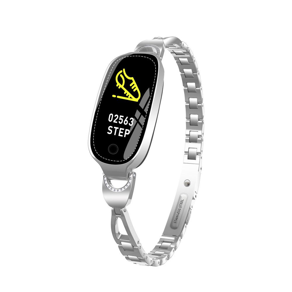 """Жіночий смарт-браслет SUNROZ F18 смарт-годинник 0.96"""" Срібний (SUN4933)"""