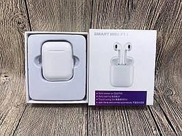 Навушники bluetooth TWS Smart Mini F11 (stereo)  с кейсом PowerBank 1000mah QualitiReplica AirPods