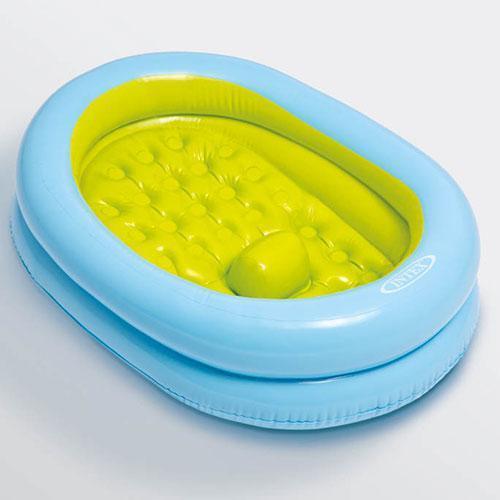 Дитячий надувний басейн-ванна з насосом для купання дитини 86х64х23 см Іntex 48421