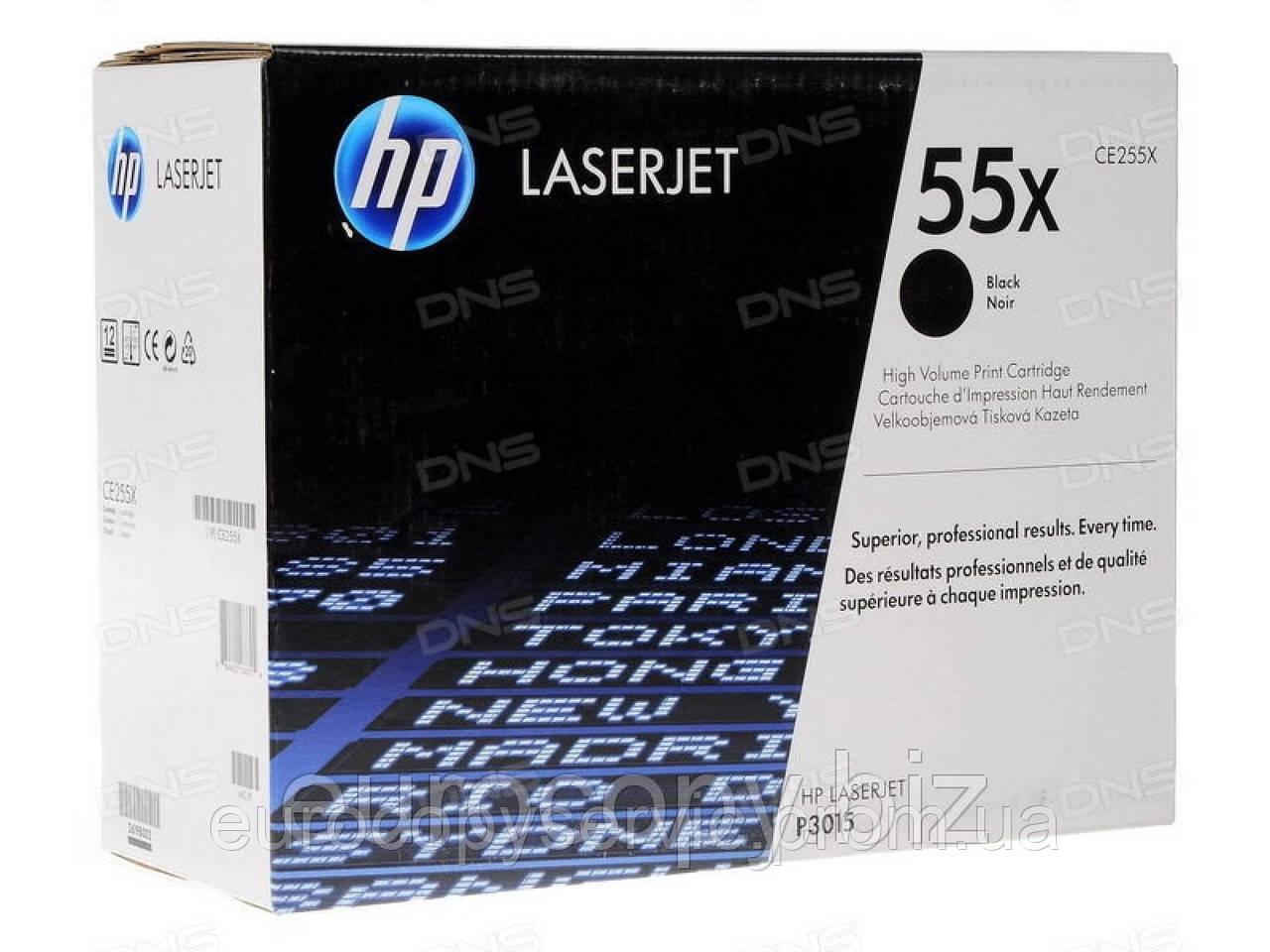 Картридж HP LaserJet P3015 series black (max) (CE255X)