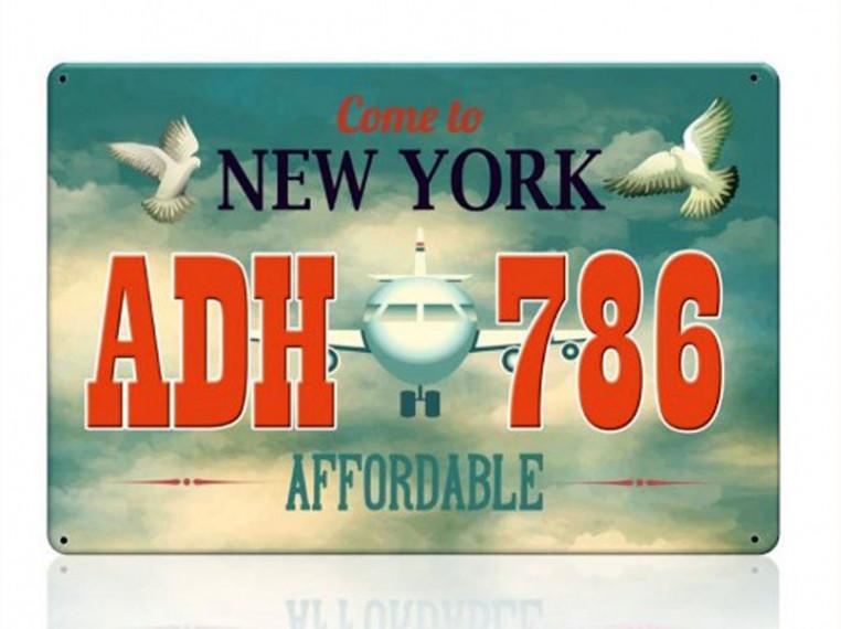 Декоративный номерной знак New-York (Изготовим за 1 час)