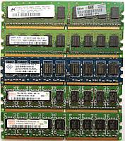 Серверная оперативная память DIMM DDR2 1Gb 667-800MHz 5300-6400E Б/У На запчасти или восстановление!, фото 1