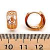 Сережки Xuping з медичного золота, в позолоті, ХР00091 (1), фото 2