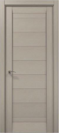 Дверное полотно 2000х610х40 Папа Карло Millenium ML-04 Дуб серый брашированный