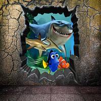 """Наклейка на стену """"Подводный мир"""" - 50*70см"""