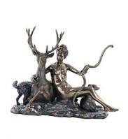 Статуэтка Диана с оленем из полистоуна в бронзе.Размер 17см Veronese