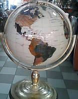 Эксклюзивный большой настольный глобус из полудрагоценных камней.Пр-ства Тайвань.