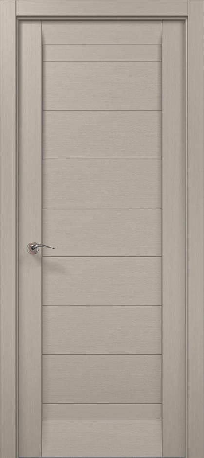 Дверное полотно 2000х910х40 Папа Карло Millenium ML-04 Дуб серый брашированный
