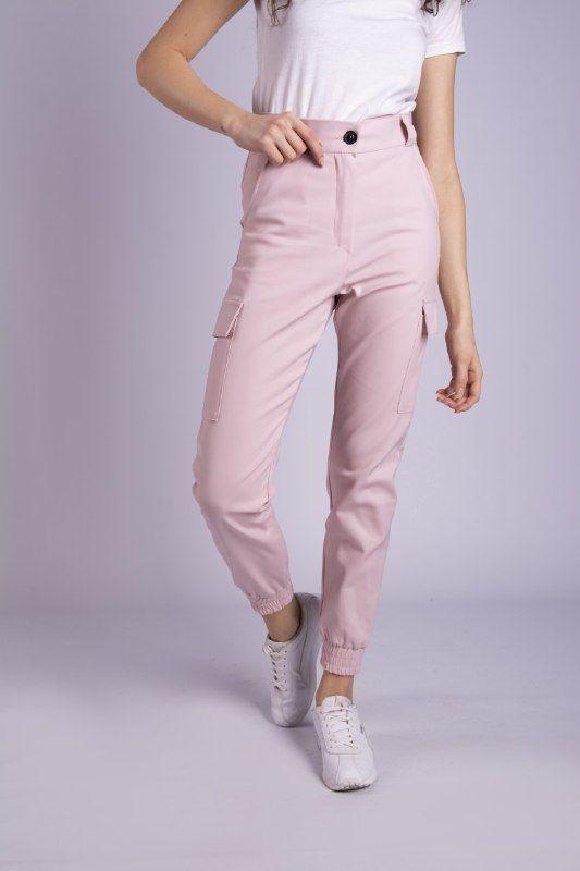 Стильные штаны карго - пудра
