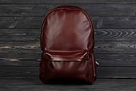 Рюкзак городской стильный из качественной эко кожи без логотипа, цвет бордовый, фото 1