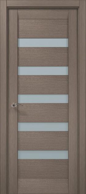 Дверное полотно 2000х910х40 Папа Карло Millenium ML-02 Дуб серый брашированный