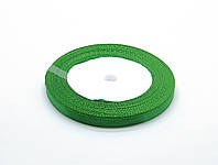 Лента атласная,зеленая, 6 мм. (рулон 23 м)