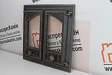 Дверцы для камина «STYLE латунный» 500х500мм Дверцы для камина печи барбекю, фото 2