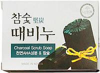 Отшелушивающее мыло  с экстрактами древесного угля, 100 гр (042858)