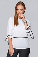 Блуза с кантом № 19-92 р. S;M; L белая, фото 1