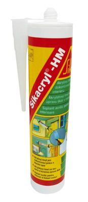Акриловый герметик/белый,эластопластичный однокомпонентный,безусадочный герметик для трещин и швов-Sikacryl-HM