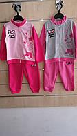 Трикотажный костюм 2 в 1 для девочек оптом, Disney, 68-86 см,  № 91504