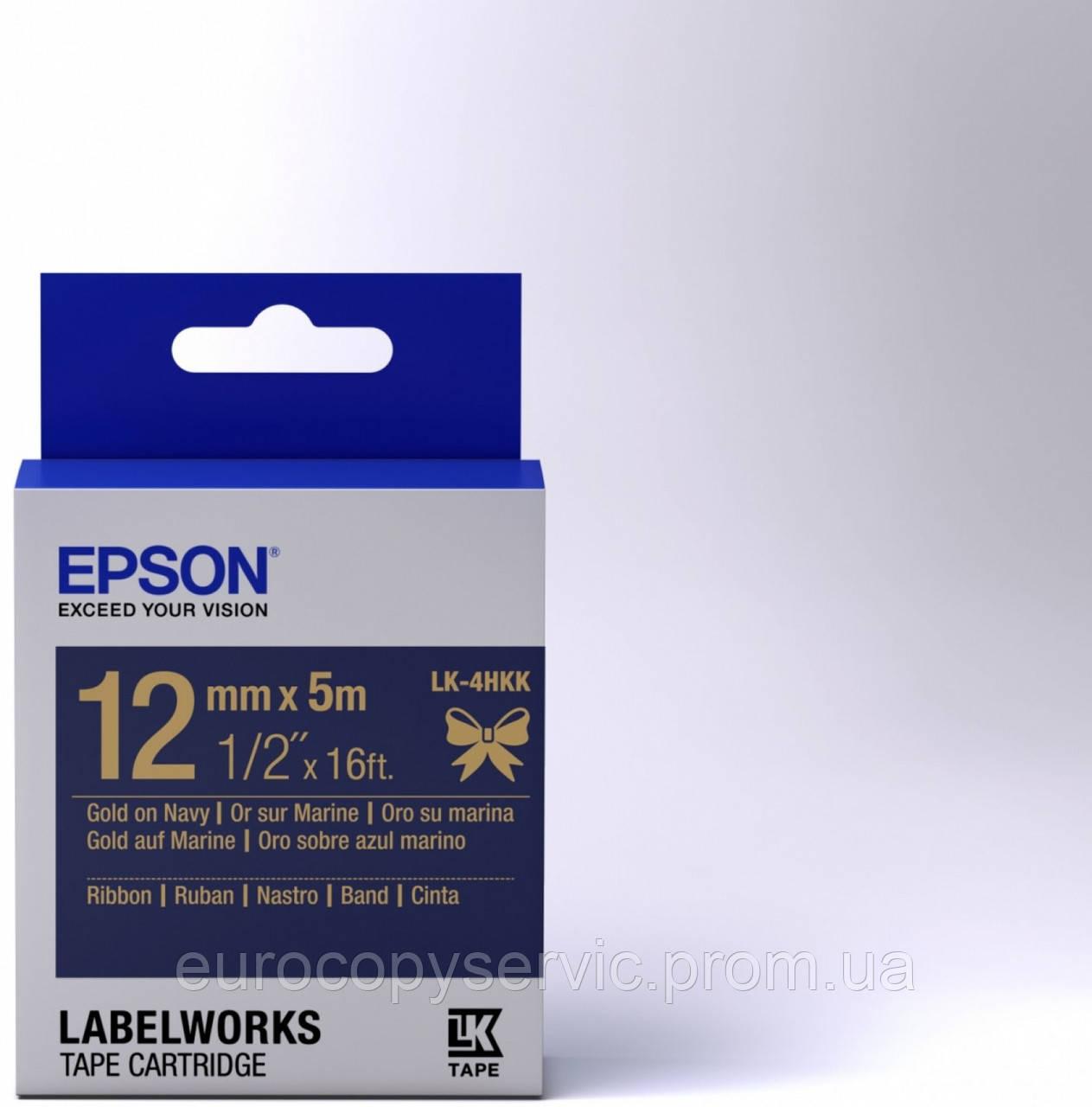 Картридж зі стрічкою Epson LK4HKK Ribbon Gold/Navy 12mm/5m (C53S654002) Original