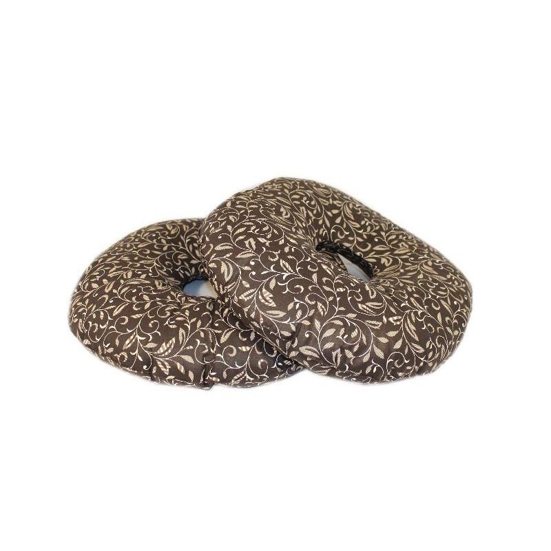 Подушка-кольцо от геморроя 10х40 см ,тк.Голд (с гречневой шелухой)