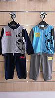 Трикотажный костюм 2 в 1 для мальчика оптом, Disney, 68-86 см,  № 91503