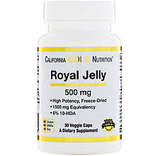 "Маточное молочко California GOLD Nutrition ""Royal Jelly"" 500 мг (30 капсул)"