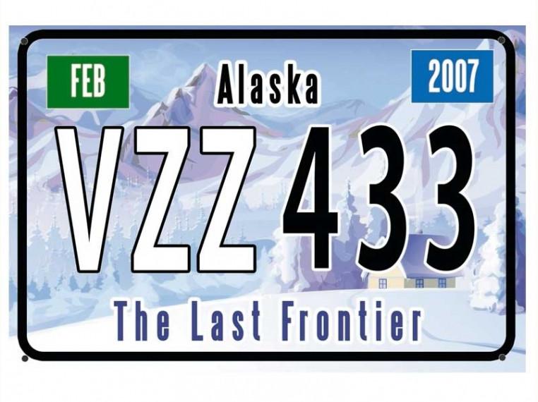 Декоративный американский номер Аляска (Изготовим за 1 час)