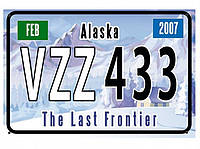 Декоративный американский номер Аляска (Изготовим за 1 час), фото 1